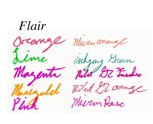 Papermate flair colors part 2