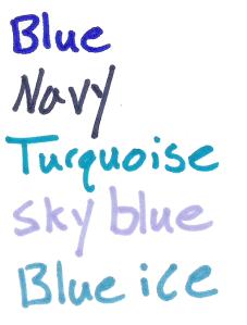 sharpie colors blues