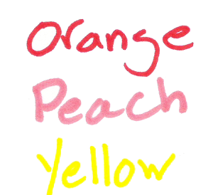 sharpie colors oranges-yellows