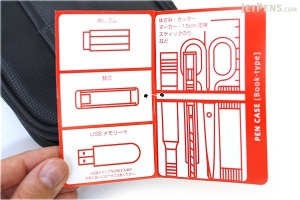"Last two photos from Jetpens.com (http://www.jetpens.com/Lihit-Lab-Teffa-Pen-Case-Book-Style-Black/pd/7665) I just had to include a photo of the ""booklet"" and originally couldn't find mine."